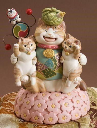 Bộ mèo thần tài này mà trưng trong nhà ngày tết thì quá hoàn hảo