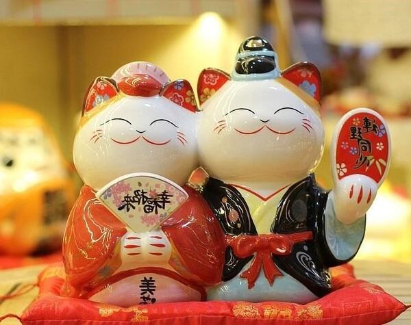 Bức ảnh cặp đôi mèo mang ý nghĩa chúc phúc và hôn nhân viên mãn cho chủ nhân