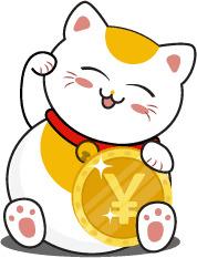 Bức ảnh mèo thần tài vector đáng yêu