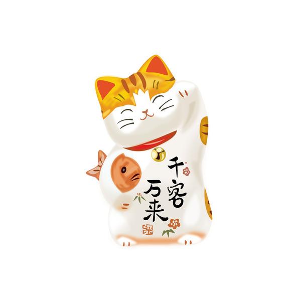 Chú mèo ngồi trên nệm đỏ có nụ cười rất dịu dàng