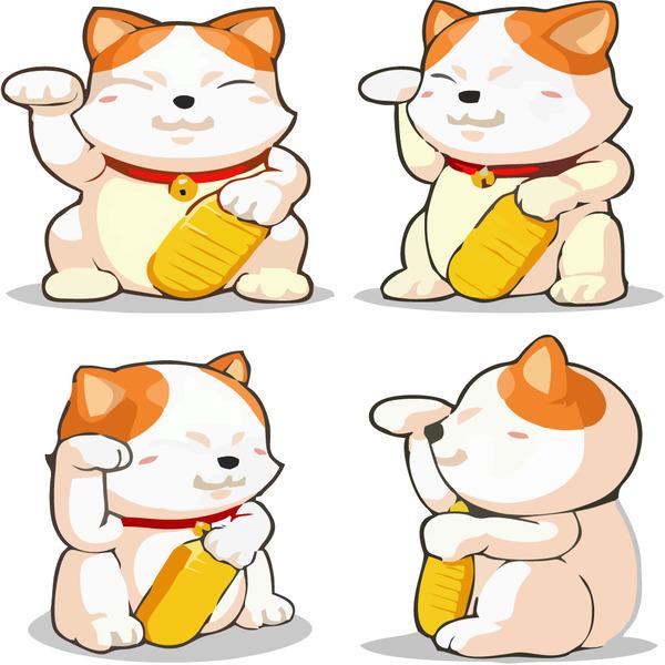 Bức ảnh mèo thần tài vector này bạn có thể dùng để design giới thiệu sản phẩm