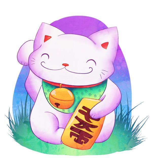 Bức ảnh mèo thần tài Vector với hình ảnh tinh nghịch vô cùng đáng yêu