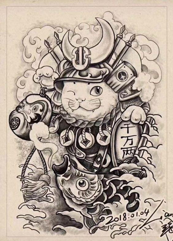 Mèo thần tài trong một bức vẽ công phu, tỉ mỉ của một tác giả nào năm 2018