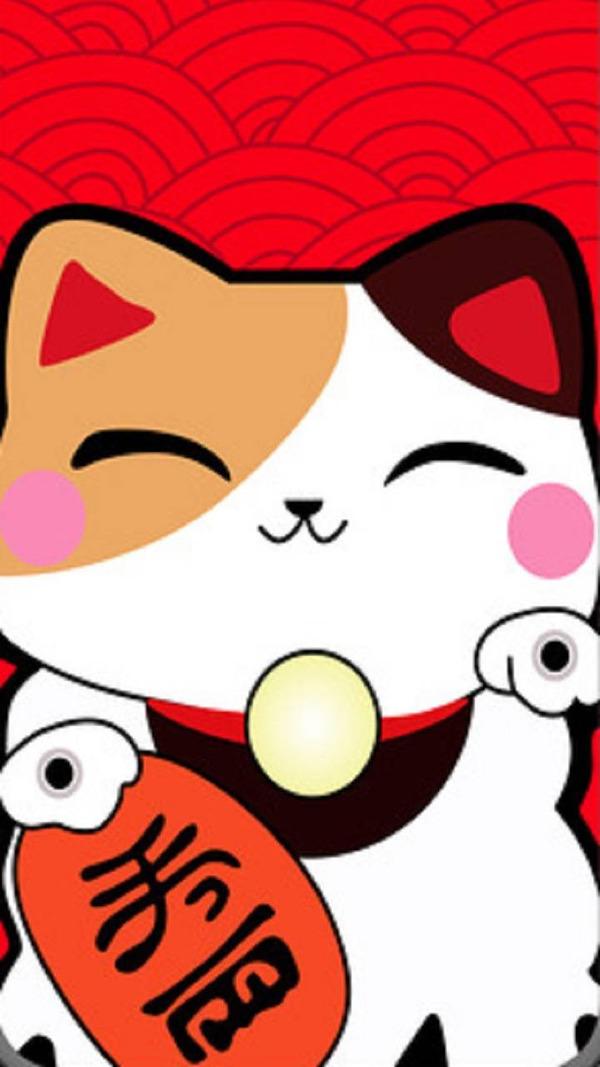 Mèo thần tài wallpaper có nét mặt tươi cười mang tới giúp người để bức ảnh giữ được tinh thần được thư thái