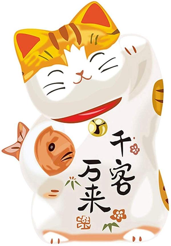 Mèo thần tài wallpaper ôm một con cá vàng hoặc cá chép Koi là biểu tượng của sự sung túc và may mắn, chiêu tài khí, tạo thành công khi thi cử
