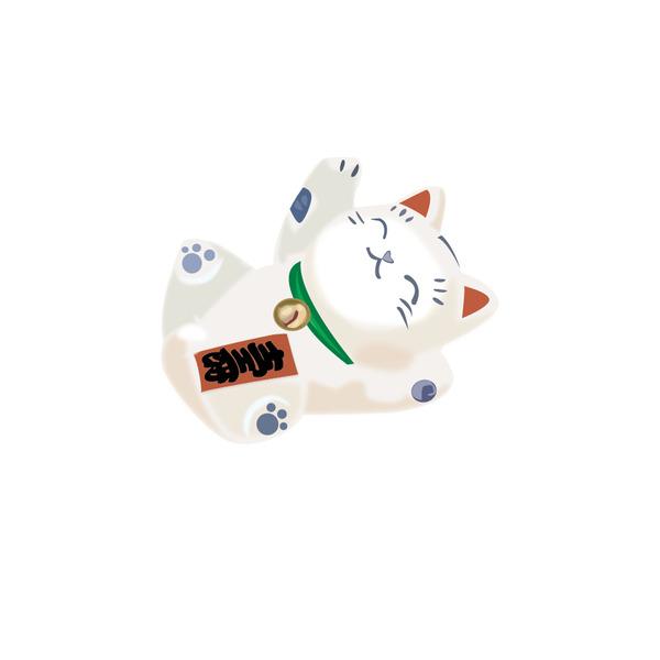Bức ảnh mèo thần tài vector này là tập hợp của những linh vật