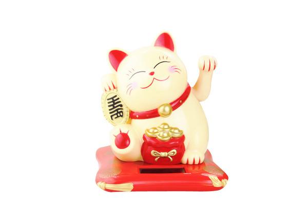 mèo thần tài vector vẫy tay trái với ý nghĩa bảo vệ gia chủ