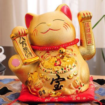 Mèo thần tài vàng tay vẫy H50168