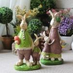 Tượng gia đình thỏ VT08