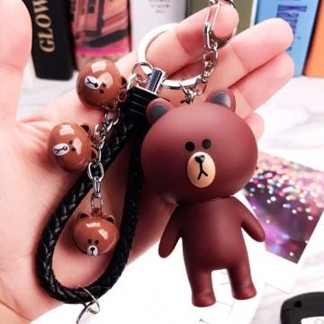 Móc khóa 4 gấu Brown MK133