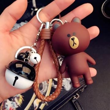 Móc khóa gấu Brown ôm tim MK132