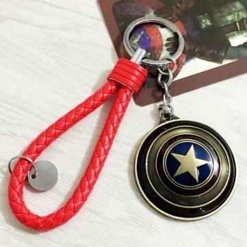 Móc khóa Caption America tròn MK142