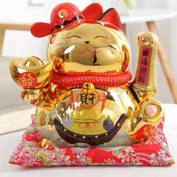 Mèo Vẩy tay 19cm H50079 vàng