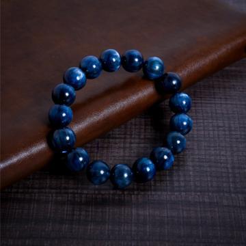 Vòng tay thạch anh tóc xanh biển 12 ly VT129