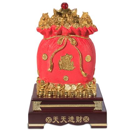 Hủ tiền vàng đỏ H40125