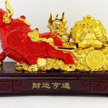 Trâu Đỏ kéo vàng 25cm