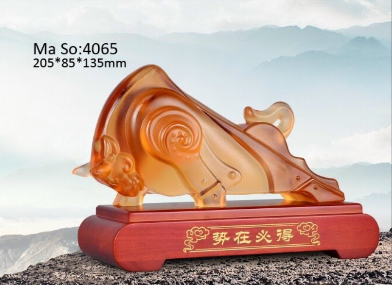 Trâu Đá Lưu Ly 21cm