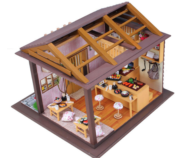 Nhà mô hình DIY nhà hàng Sushi Nhật Bản