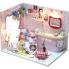 Nhà mô hình DIY Hello Kitty Bar màu hồng dễ thương