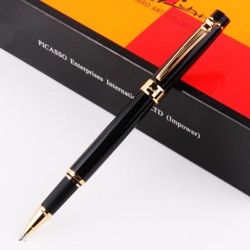 Bút ký Picasso dạ bi 917R(B) màu đen, cài vàng