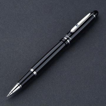 Bút Picasso 608R(B) dạ bi màu đen, cài bạc đính đá