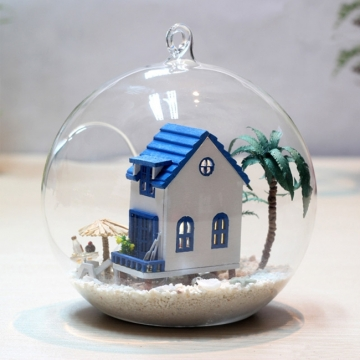 Nhà mô hình DIY nhà trên đảo dừa