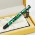 Bút ký Picasso dạ bi 927R(GR) sọc xanh đen cài bạc