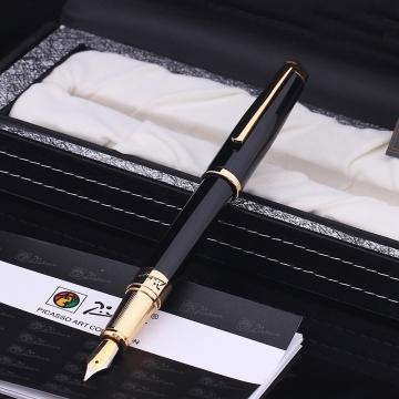 Bút ký Picasso máy 918F(B) đen cài vàng