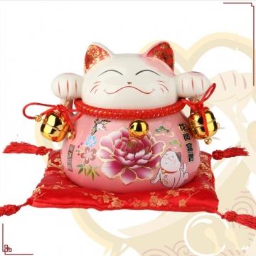 Mèo thần tài Hoa mẫu đơn (Màu Hồng) 90171