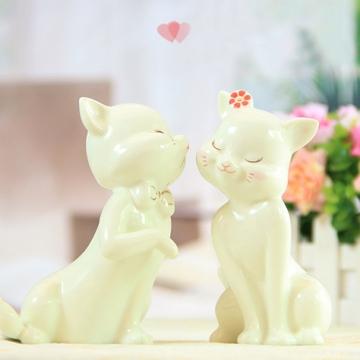 Đôi mèo sứ đeo nơ GS118