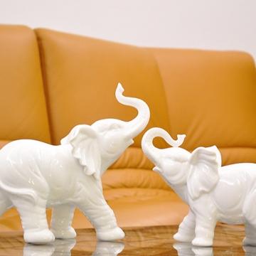 Cặp voi phong thủy sứ trắng (Loại nhỏ)