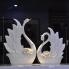 Đôi chim thiên nga sứ trắng dáng 1