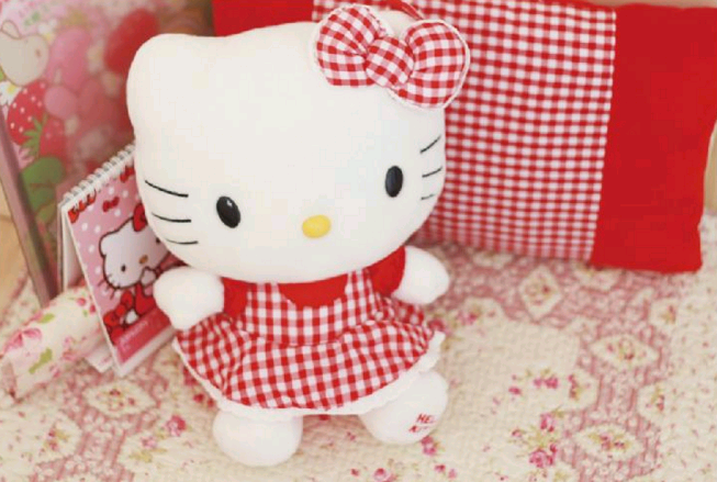 Hello Kitty váy caro đỏ GB263