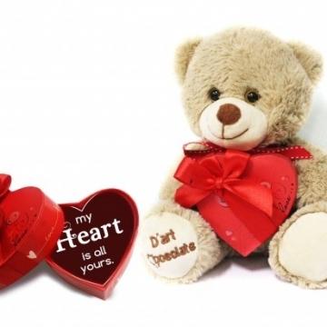 Socola valentine nhỏ hộp trái tim 1 viên socola V16-S38