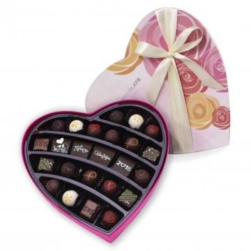 Hộp socola tình yêu hình trái tim lớn 24 viên V16-B40