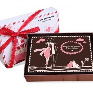 Socola lể tình yêu hộp 1 viên socola nghệ thuật V16-B17
