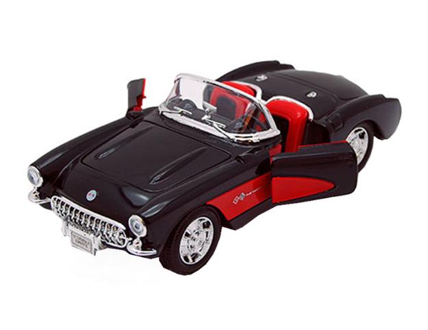Ô tô mô hình Chevrolet Corvette 1957 màu đen tỉ lệ 1:24
