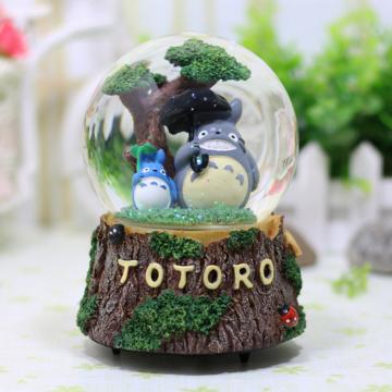 Hộp nhạc đôi mèo totoro dưới gốc cây