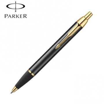 Bút Parker dạ bi đầu bấm đen cài vàng PK012RB