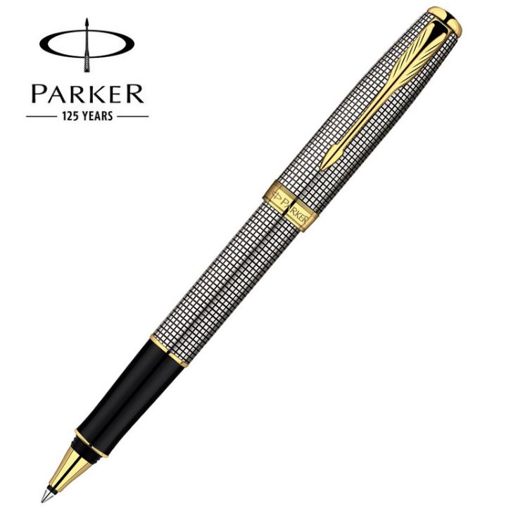 Bút Parker dạ bi sonet vỏ thép cài vàng 00C21