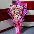 Hoa gấu bông gấu mặc áo hồng HGB005