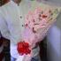 Hoa gấu bông thỏ hồng I love you HGB016