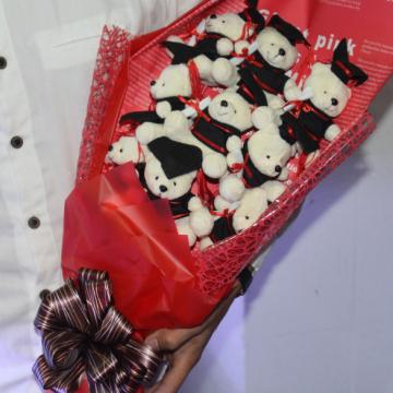 Hoa gấu bông tốt nghiệp HGB023