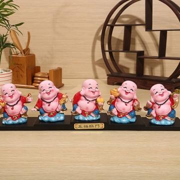 Bộ tượng 5 ông phật di lặc 5OTTV2