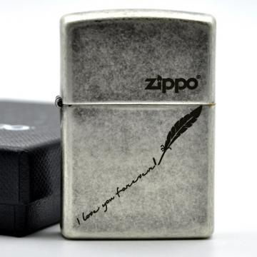 Bật lửa Zippo USA i love you forever lông vũ