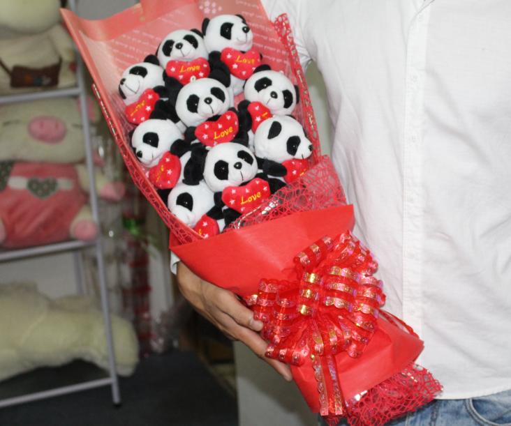 Hoa gấu bông gấu panda HGB041