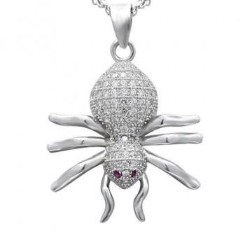 Dây chuyền bạc hình con nhện DC153