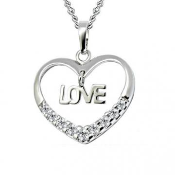 Dây chuyền bạc hình trái tim chữ Love DC154