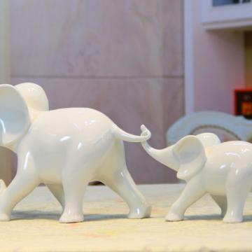 Cặp voi sứ trắng GS109